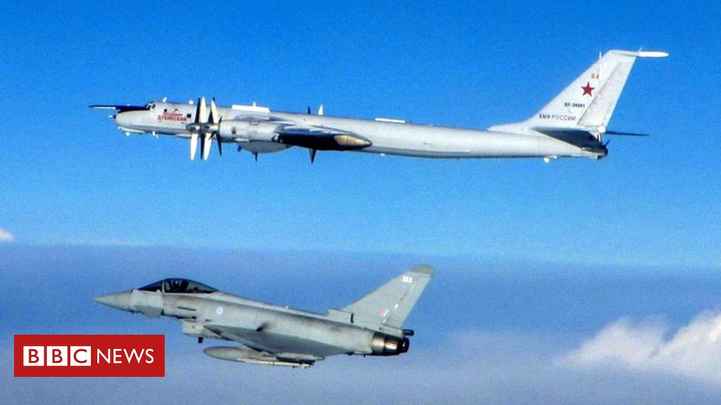 Four RAF fighters intercept Russian aircraft