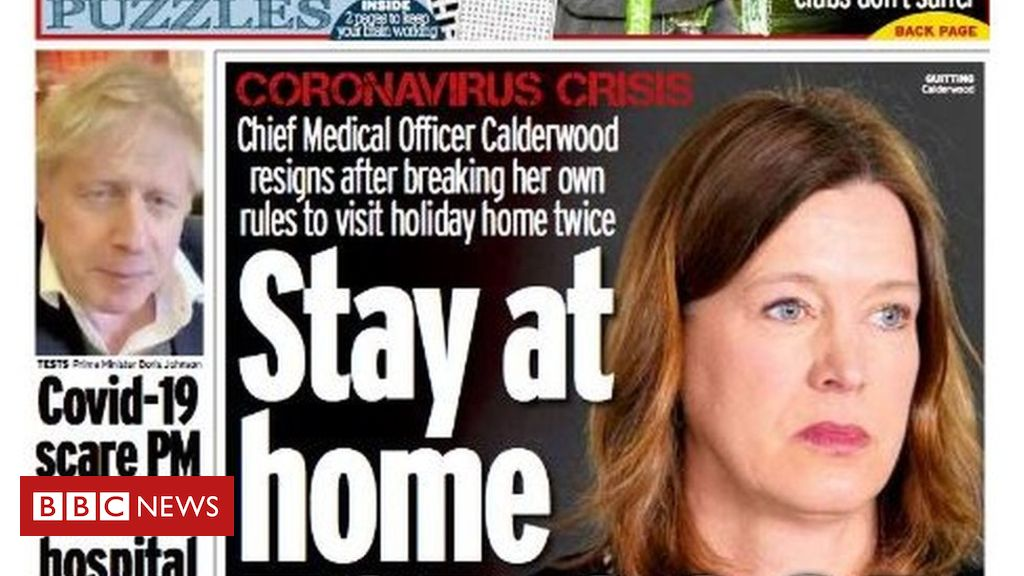 Scotland's papers: CMO quits and Johnson in hospital