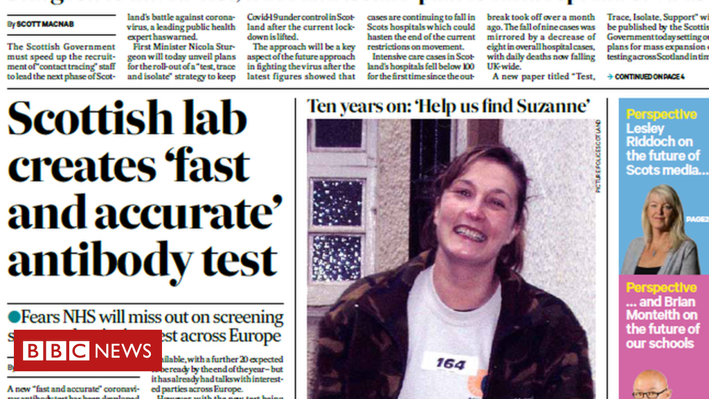 Scotland's papers: International 『mission』 to develop Covid-19 vaccine