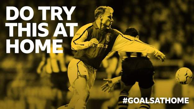 #GoalsAtHome: Can you recreate Dennis Bergkamp's goal at Newcastle in 2002?