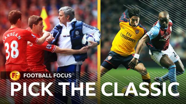 Football Focus: Vote for which classic Premier League match highlights are shown