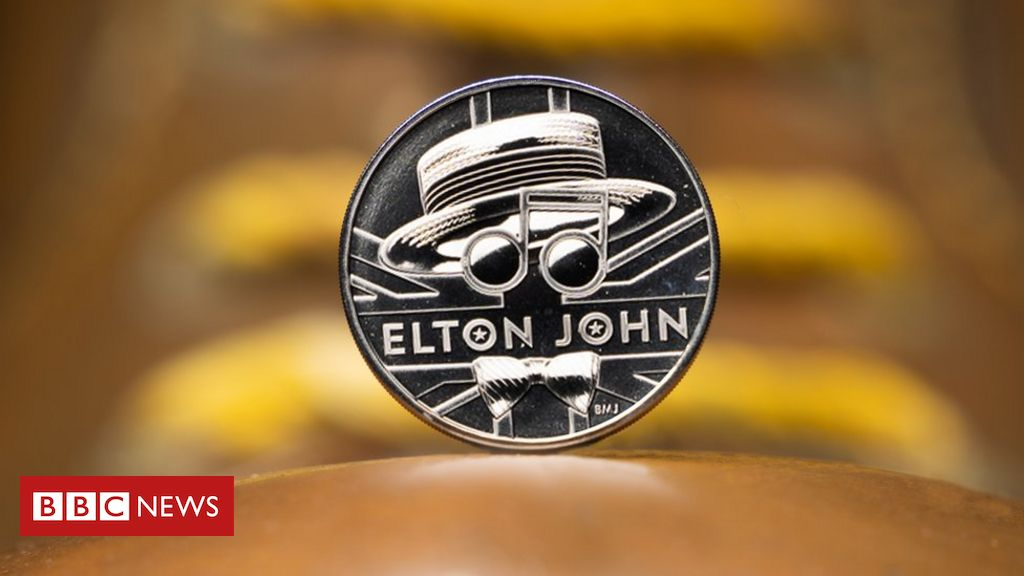 Sir Elton John honoured by Royal Mint on £1,000 gold coin