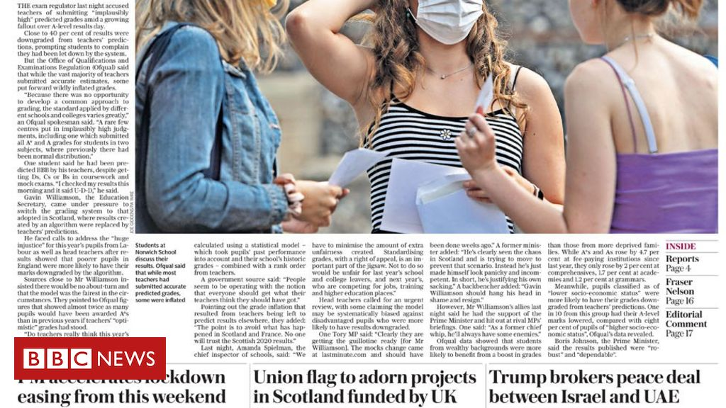 The Papers: Results 「fiasco」 and new UK quarantine for France